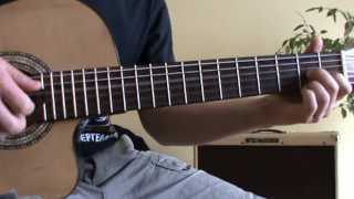 Guantanamera guitar lesson with TAB (original version)
