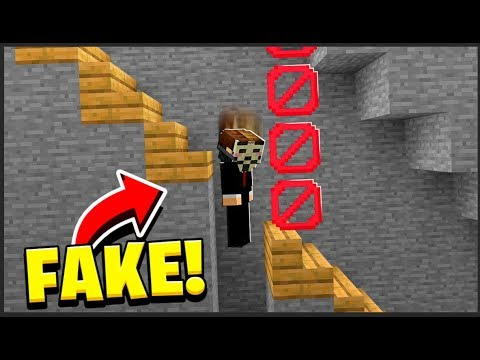 i caught Minecraft Hackers... with a FAKE STAIRS TROLL