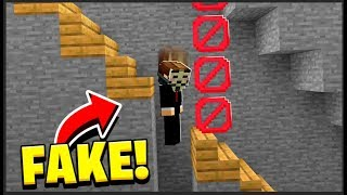 i caught Minecraft Hackers with a FAKE STAIRS TROLL
