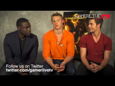 The Hunger Games Actors Dayo Okeniyi, Alexander Ludwig, and Jack Quaid Talk Bluray and Games