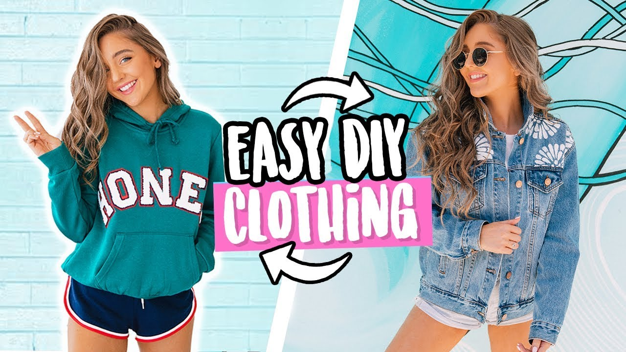 EASY DIY CLOTHING FOR SCHOOL! No Sew + QUICK 2018 - YouTube