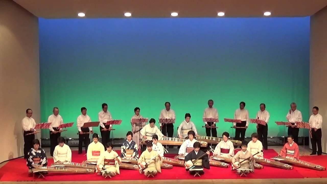 第二十九回香芝市三曲協会邦楽演奏会 16.阿波の風 - YouTube