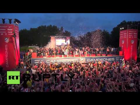 Spain: Atletico Madrid parade in front of adoring fans