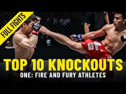 Top 10 Knockouts | ONE: FIRE AND FURY Athletes | ONE Full Fights