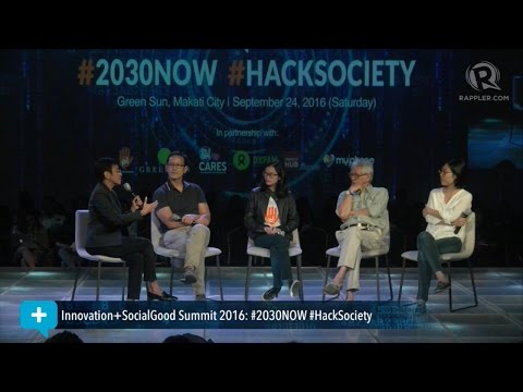 Social Good Summit 2016: Panel discussion on technology and public debate