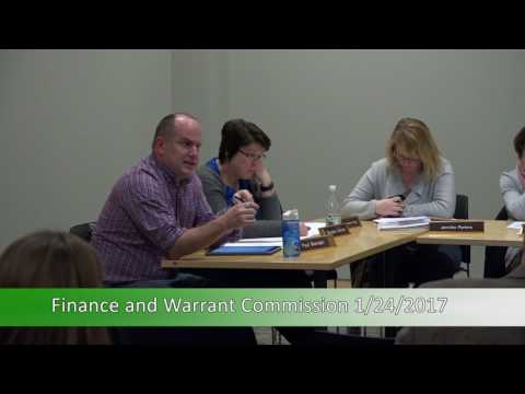 Finance and Warrant Commission 1/24/17
