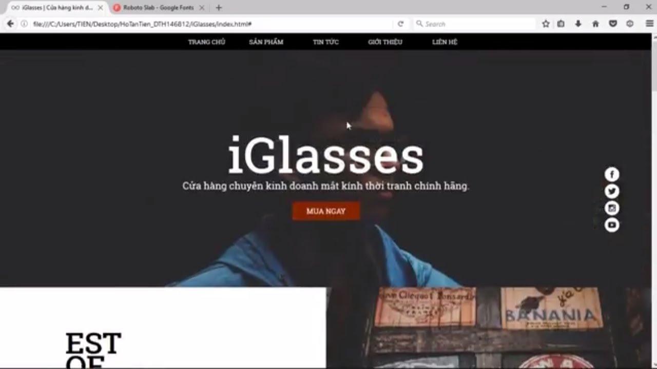 [Bài 11 - Website Bán Hàng] Hướng dẫn Thiết kế giao diện website đẹp bằng HTML5 và CSS3