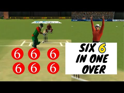 Real Cricket Gameplay Record Six Sixes in One Over