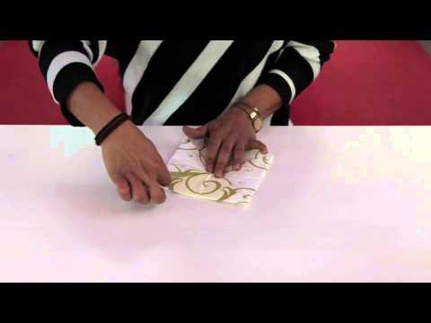 Pliage De Serviette En Fleur De Lotus Youtube
