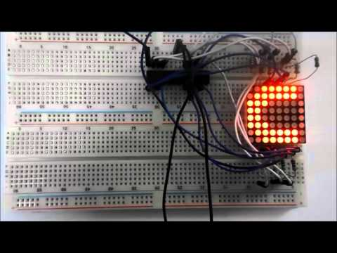 8x8 LED Matrix Interfacing with AVR ATmega8 Microcontroller