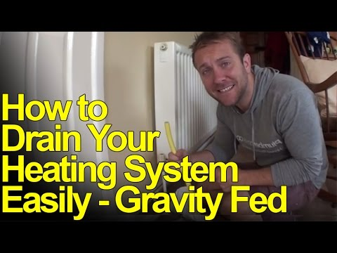 HOW TO DRAIN DOWN HEATING SYSTEMS - GRAVITY FED - Plumbing Tips ...