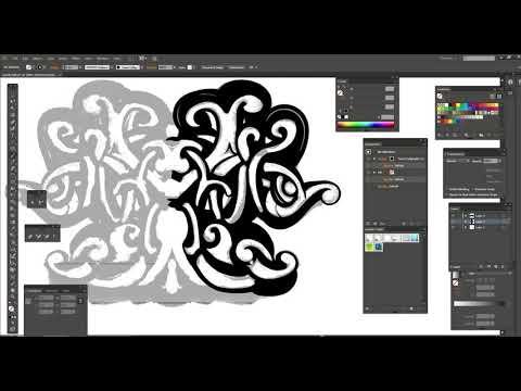 как нарисовать узор с помощью планшета Wacom в векторе в программе Illustrator