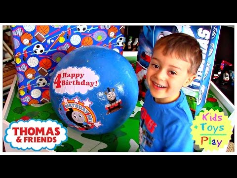 Thomas and Friends GIANT SURPRISE EGG and Birthday Present Opening with Thomas Train Playtime