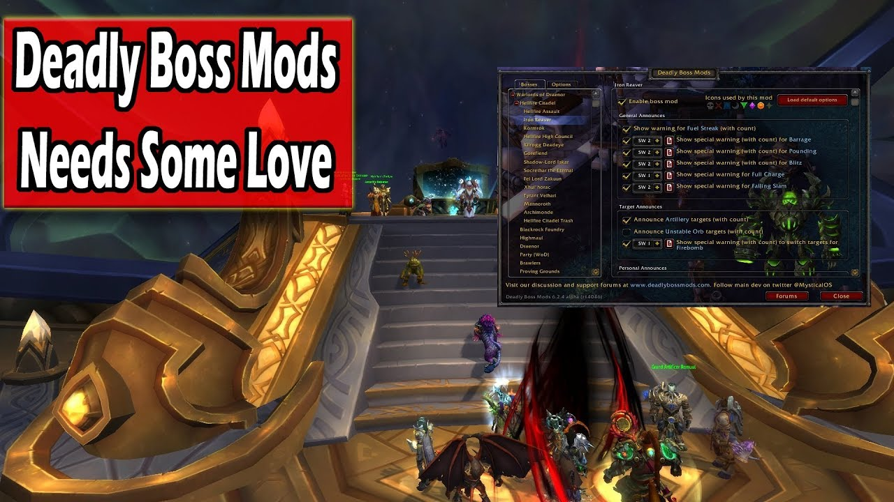 Deadly boss mods classic