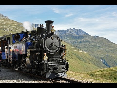 Steam Train over Furka Pass - Part 1