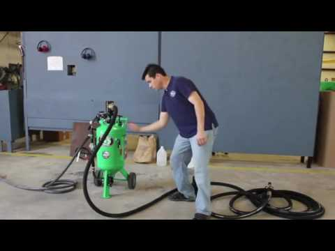 How To Use The DB150   Dustless Blasting Equipment