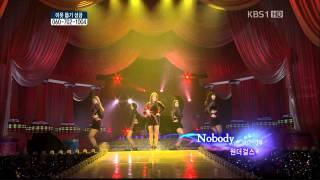 [HD] 120101 Wonder Girls - Be My Baby + Talk + Tell Me + Nobody @ Open Concert