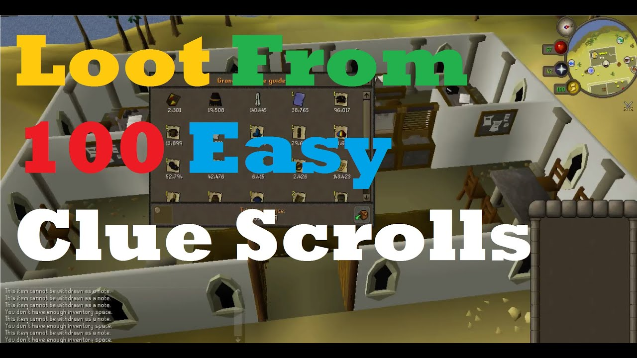 osrs easy clue scrolls how to get