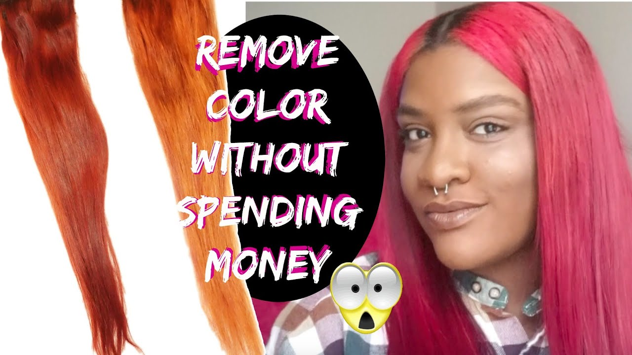 Remove Hair Color Without Bleach Youtube