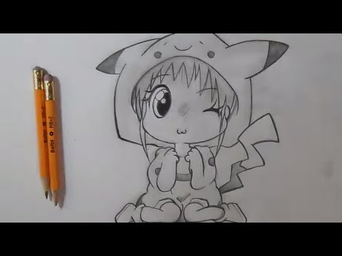 comment dessiner fille chibi pikachu youtube. Black Bedroom Furniture Sets. Home Design Ideas