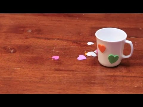 full download how to decorate a mug with heart foam. Black Bedroom Furniture Sets. Home Design Ideas