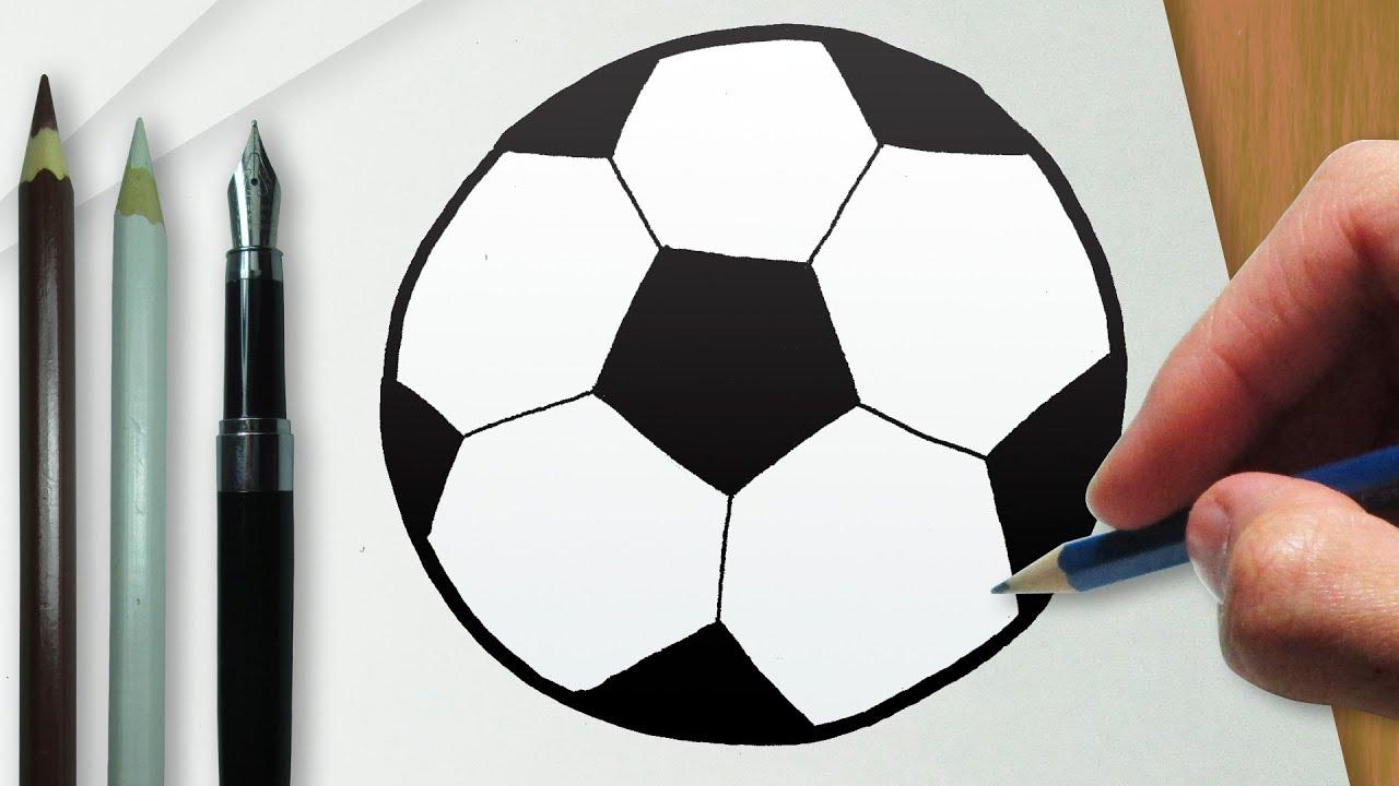 Como desenhar uma bola de futebol - YouTube 1b5b608032a59