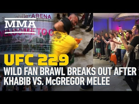 Patrick Sanders - Fan Brawl Breaks Out After McGregor Vs Khabib Fight