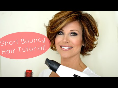 Bouncy Short Hair Tutorial