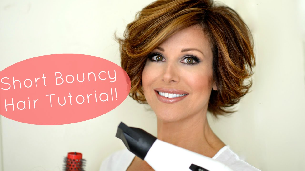 Bouncy Short Hair Tutorial - YouTube