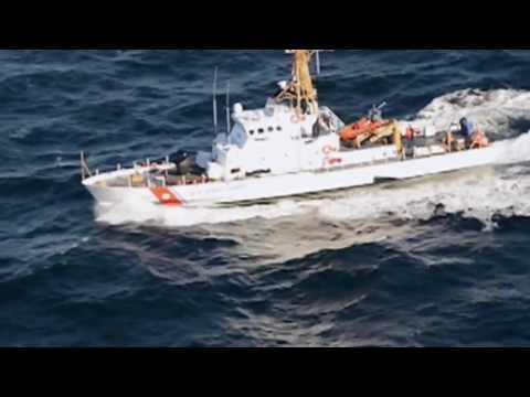 U.S. Coast Guard Cutter Orcas transits the Columbia River