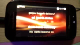 "My Sony Ericsson Mix Walkman ""Kocchi Muite Baby"" Hatsune Miku song [Karaoke on Phone]"
