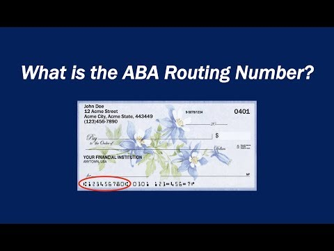 What Is An ABA Routing Number?