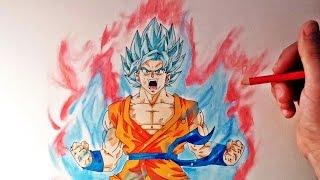 Cómo dibujar a Goku SSJ Dios Kaioken x10 | How to draw Goku SSj God Kaioken x10