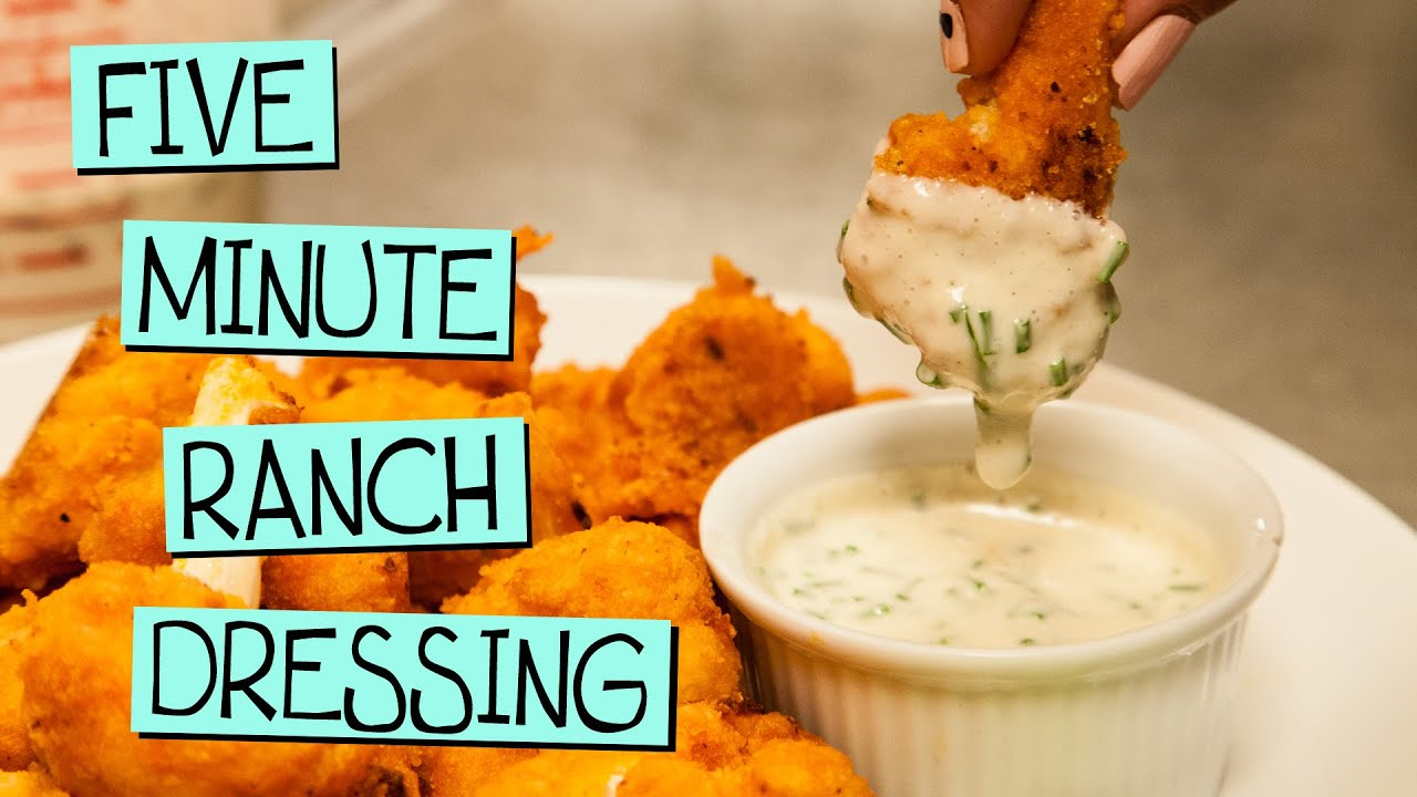 Five Minute Vegan Ranch Dressing Youtube