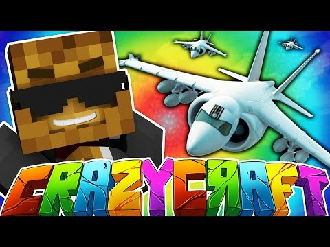 AIRPLANES AND HELICOPTERS - MINECRAFT'S OLDEST MOD PACK CRAZY CRAFT SURVIVAL Season 2 #6
