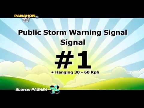 NAPAPANAHONG KAALAMAN: Public Storm Warning Signals