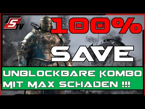 For Honor // Centurion 100% Save Max Damage Kombo Move 1.07