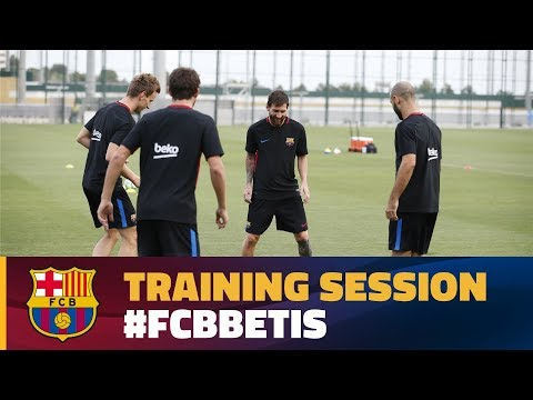 Last training session before League debut