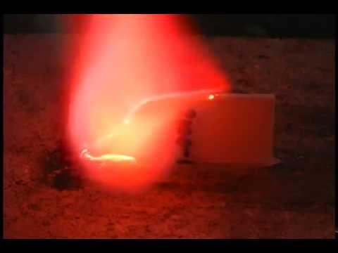 flame spread over PBX 9501 slab on edge