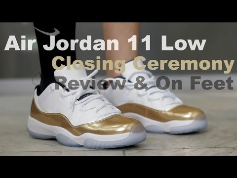 "Air Jordan 11 Low ""Gold Coin"" ""Closing Ceremony"" Review + On Feet"