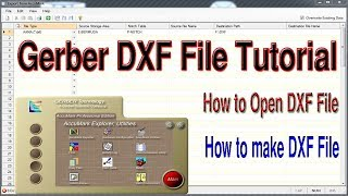 How to Import & Export DXF File by Gerber Software   Gerber Data Exchange   DXF File   DXF Open