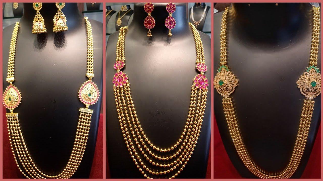 Latest Chandra Haram Mugappu Model Chain Designs With Price Youtube