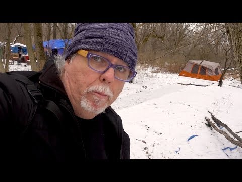 Tour of Ithaca's Tent City Where Homeless People Survive in the Freezing Cold