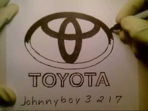 How To Draw The Toyota Logo Symbol Emblem Sign Car Auto Step By