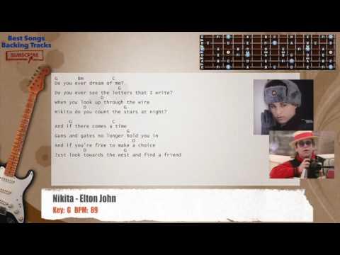 Nikita - Elton John Guitar Backing Track with chords and lyrics