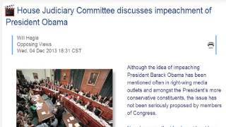 HOUSE JUDICIARY COMMITTEE HAS BEGUN DISCUSSING IMPEACHMENT PROCEEDINGS AGAINST PRESIDENT OBAMA !!!