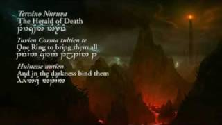 The Prophecy (Quenya lyrics in Tengwar) - Lord of the Rings: The Fellowship Of The Ring