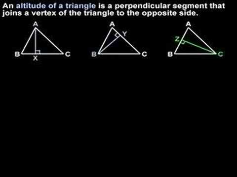 Altitude Of A Triangle MathHelpcom Geometry Help YouTube - What is altitude