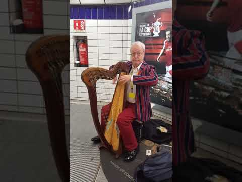 Nice HARP singer in Bank station [ TITANIC SONG ]