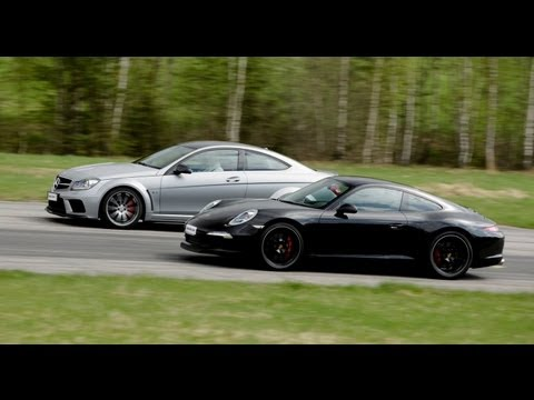 Porsche 991 Carrera S vs Mercedes C63 AMG Black Series Designo